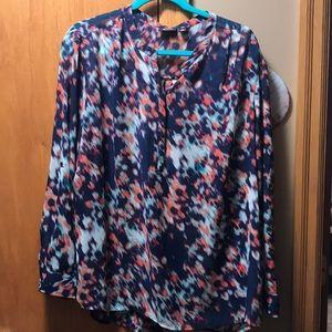 Women's Sheer Multi Color Blouse size 1X